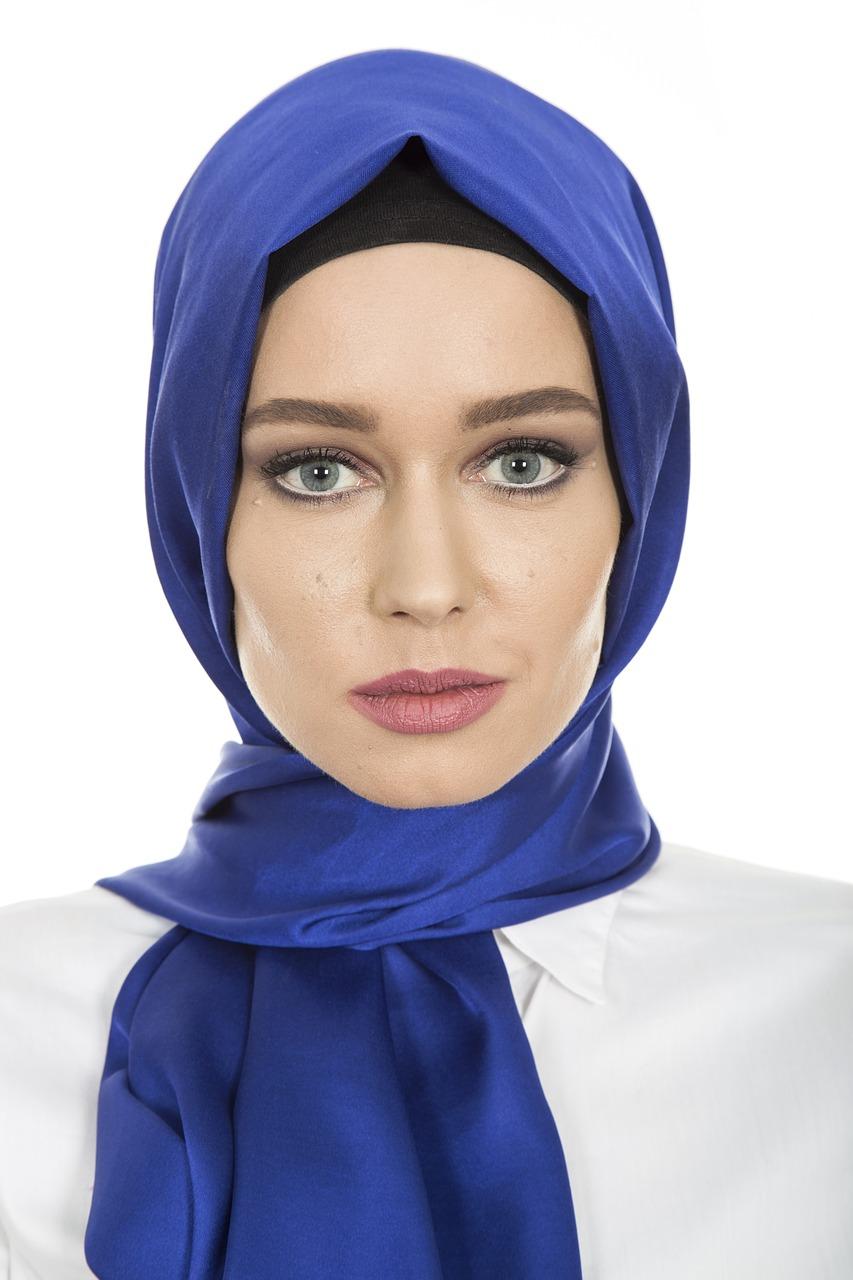 hijab, head cover, hair